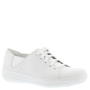 2- FitFlop™ F-Sporty Womens White Leather Lace Up Trainers
